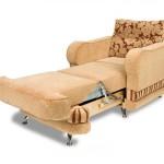 Кресло-кровать – лучшее спальное место в квартире с небольшой площадью.