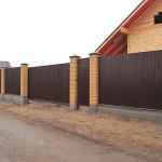 Забор из профнастила.