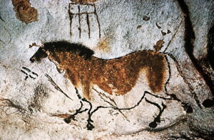 "Paleolithic Cave Painting of ""Chinese Horse"""