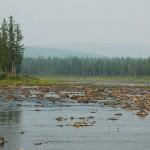 Безводие реки вблизи обильных родников.