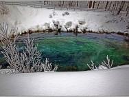 Незамерзающие родники пресной внутриземной воды